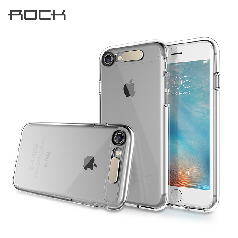 2016 New Rock for Apple iPhone 7 Plus back cover LED flash Phone case