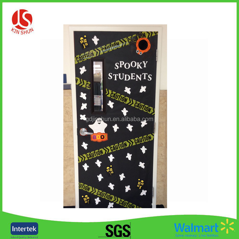 Pattern Printed Plastic Door Cover for School Activity Halloween party