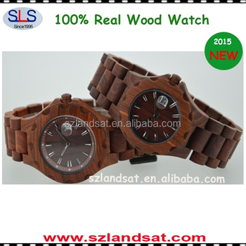 2015 luxury real wooden watches with japanese movement BW0002M
