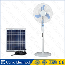 high rpm solar powered portable dc fan with 3 level control