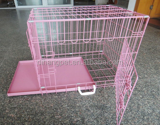 Wire Folding Pet Crate Dog Cage Easy Transport/dog cage sample/popular metal dog cage