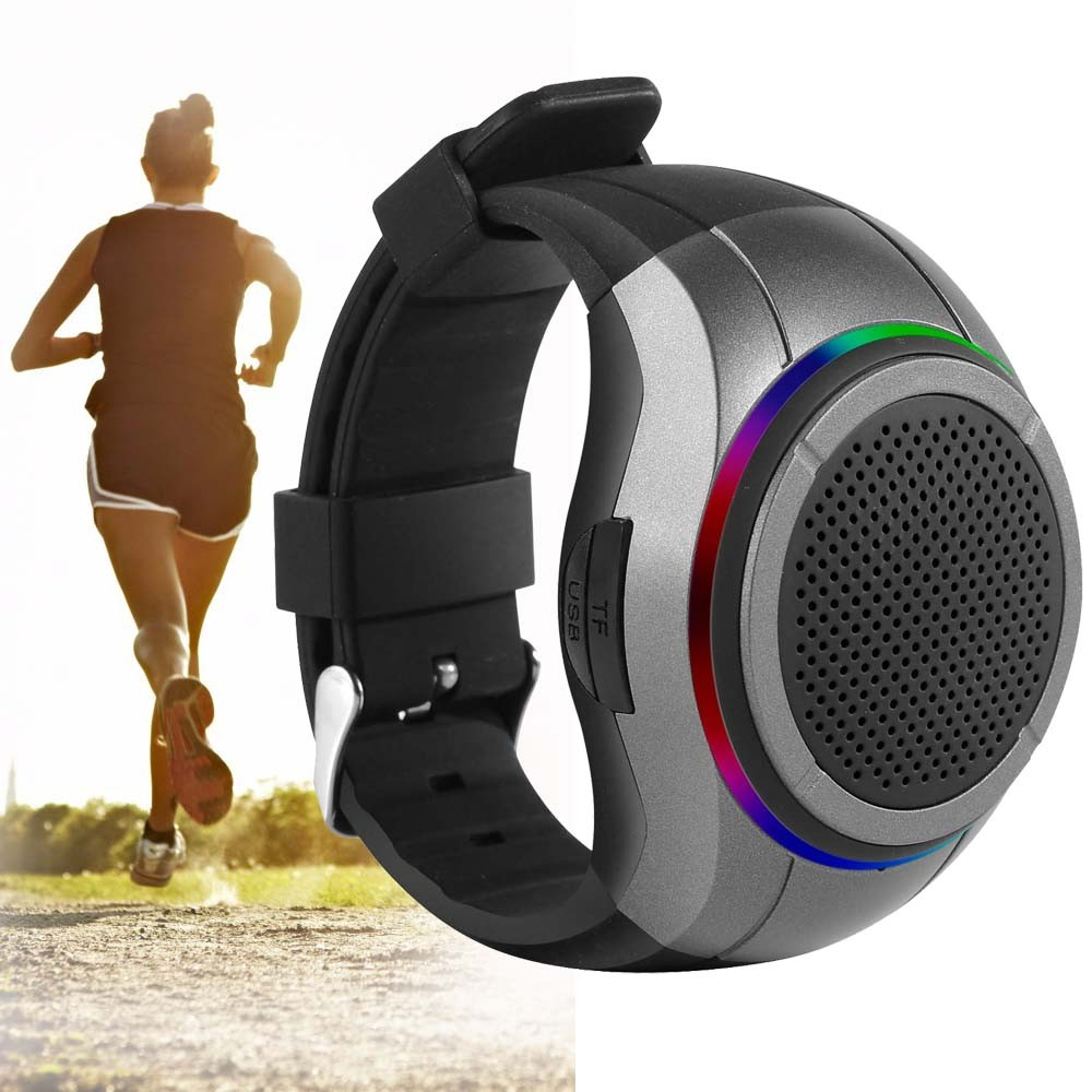 New 3W 10 Hours Play Time Wearable Watch Type with FM Radio Outdoor Sports Running Wireless Bluetooth speaker driver