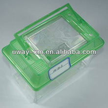 UW-180-B-2 Supplier wholesale plastic fish aquarium tank with green lid
