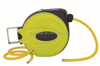 "Retractable Air Hose Reel with 3/8"" x 50 ft. Hybrid Polymer Air Hose"