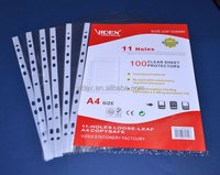 11 holes pockets,a5 clear sheet protector