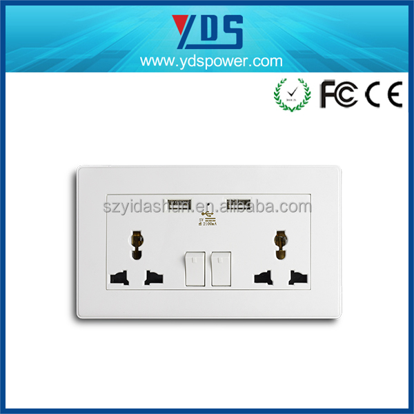 Alibaba co uk 2gung 2 way Residential General-Purpose Application wall outlet Tower Extension Socket usb wall socket