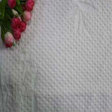 2015 quilted mattress fabric foam polyester knit mattress fabric LR-044 white grey intex air bed