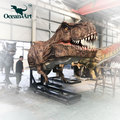 OA5265 Playground life-size t-rex animatronic dinosaur on the wall