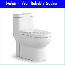 WashDown S-trap Ceramic Toilet Floor Mount One-piece WC Toilet Made In China 8821
