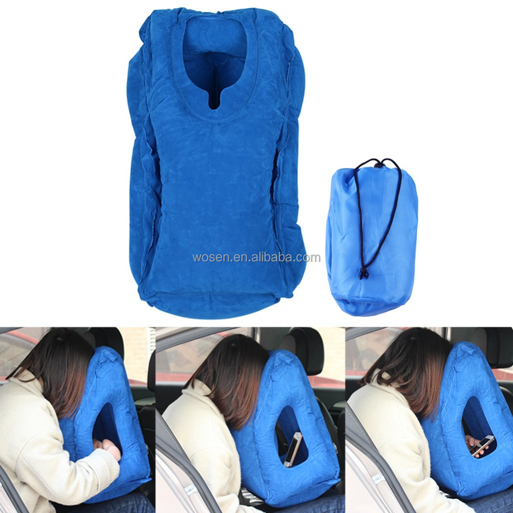 Travel Pillow Inflatable Travel Pillows For Airplanes, Portable Office Napping Pillow