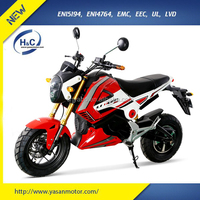 Powerful 1200W motor YMH 2 wheel cheap electric motorcycle for adult