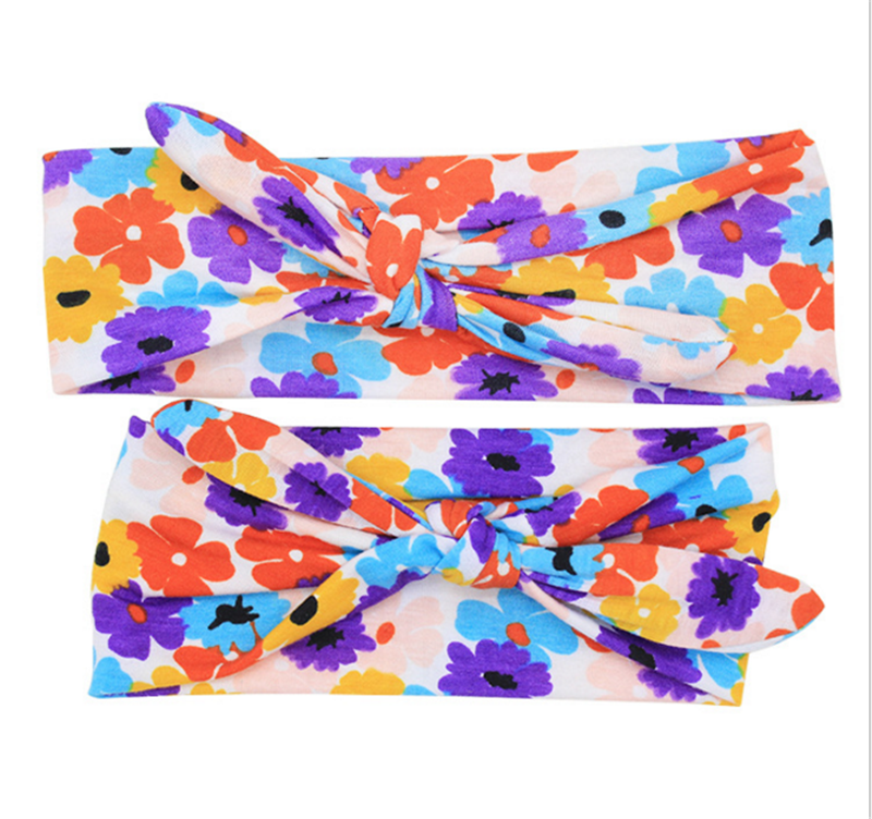 2017 hot sale fashion wholesale Cotton printed hair accessories bow headband/headwear/hairband for baby/girls/kids