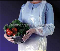 clear plastic PE aprons used in kitchen for adults