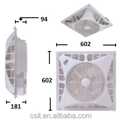 Ceiling Tile Box office Circulation Fan Y14-AC 220 AC Motor