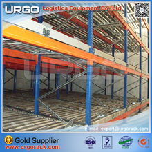 2017 Hot Sell Gravity Pallet Racking Industrial Shelves Flow Stainless Roller Racks