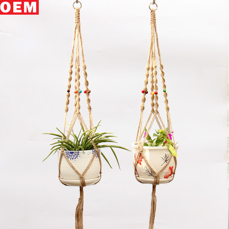Home&Garden Decoration Handmade Rope Macrame Plant Hangers Wall Hanging Planter Plant Pot Holder