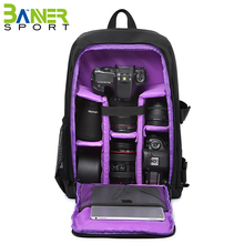 Multifunctional travel outdoor camera backpack lens laptop accessories storage bag case with rain cover