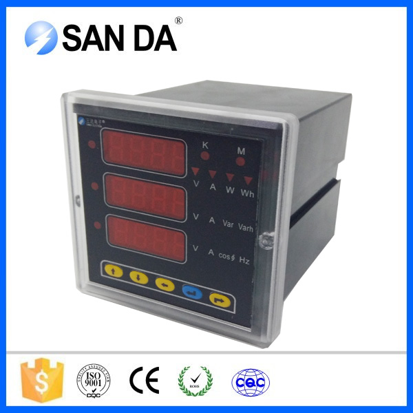 96*96mm frame panel multifunction network analyzer with AO/DO Modbus-RTU protocol