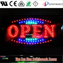 High Quality indoor Led Open Sign board/ oval led open sign