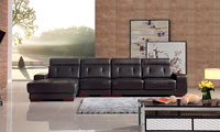 Tan black leather love couch furniture for sale
