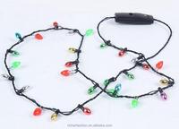 LED Christmas Parties Flashing Light samll Bulbs Necklace