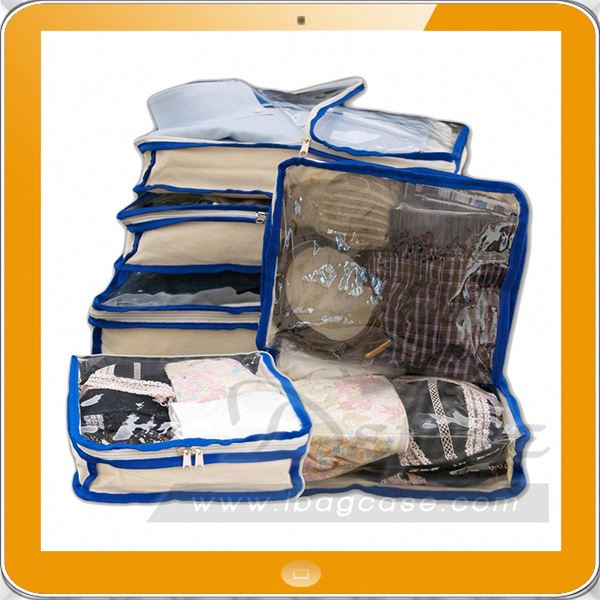 new coming 2016 transparent set of 6 packing cubes
