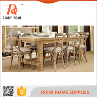 Antique style new design solid wood dining table and chair