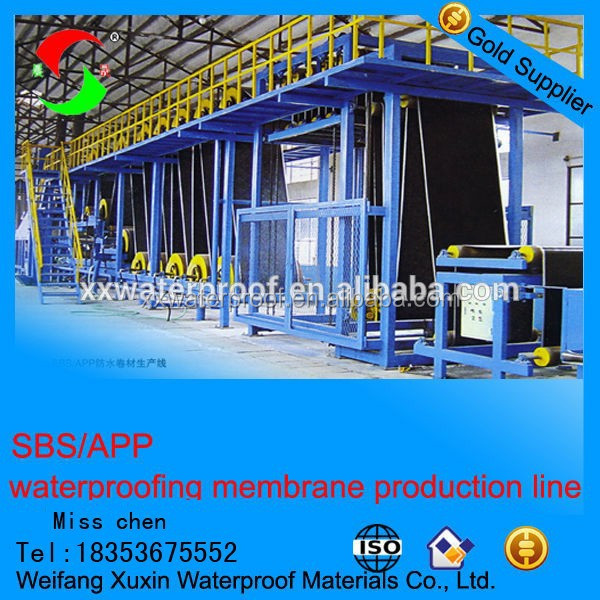 the most professional sbs app bitumen waterproofing membrane machinery production line