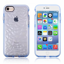 Top selling soft TPU Diamond Gem texture mobile phone case for iphone8 8PLUS Gem case