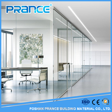 Modern soundproof movable glass partition