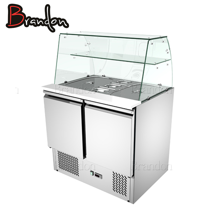 Brandon stainless steel refrigerated salad bar counter design