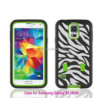 Wholesale cell phone case,Cheap mobile phone case for Samsung Galaxy S5 I9600 with Zebra design