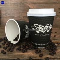 Colorful Disposable black paper coffee cup,cup for coffee,costa coffee paper