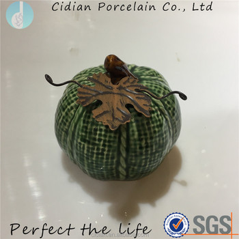 Small Ceramic pumpkin for decoration