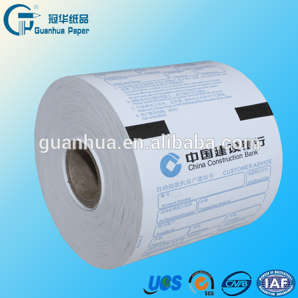 thermal cash roll paper for bank pos atm machine
