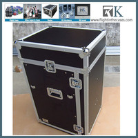 RK DJ Workstation With 3U Vertical , 4U Slanted And 2U Top Rack,dj workstation flight case