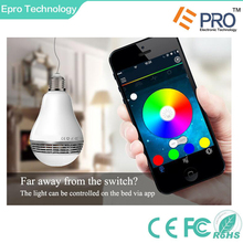 China wholesale best selling wireless remote control bluetooth speaker E27 5w smart LED bulb light