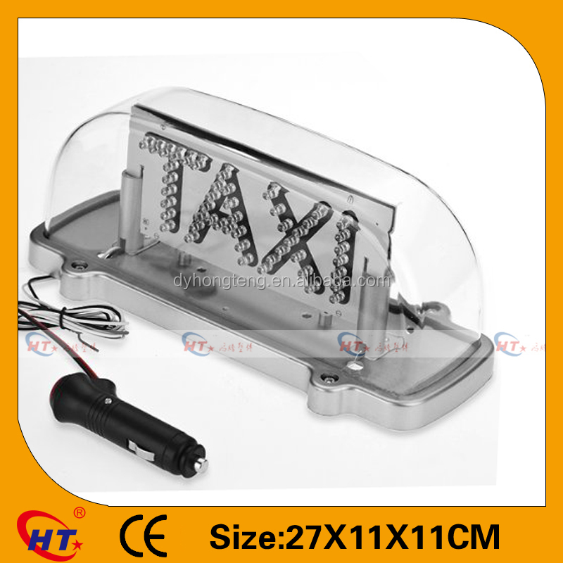 Auto lighting transparent colorful taxi signs leds