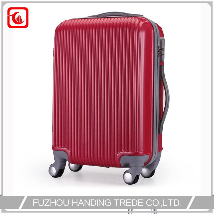 red diamond hard case luggage , cheap large red hard roll suitcase