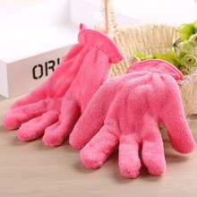 wholesale microfiber gloves makeup remover
