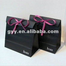 2012 Black Gift Paper Bag With Bowknot
