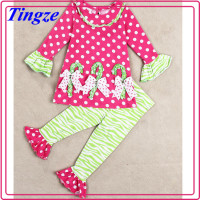 Winter Custom Children Girls Flared Trousers Outfits Xmas Tree Baby Girls Christmas Outfits