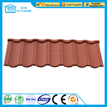 New Sunlight colorful stone coated metal roofing tile / metal corrugated roofing tile
