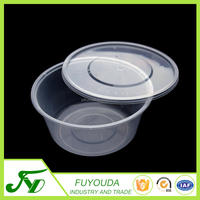 750ml clear disposable round plastic lunch food container with dome lid