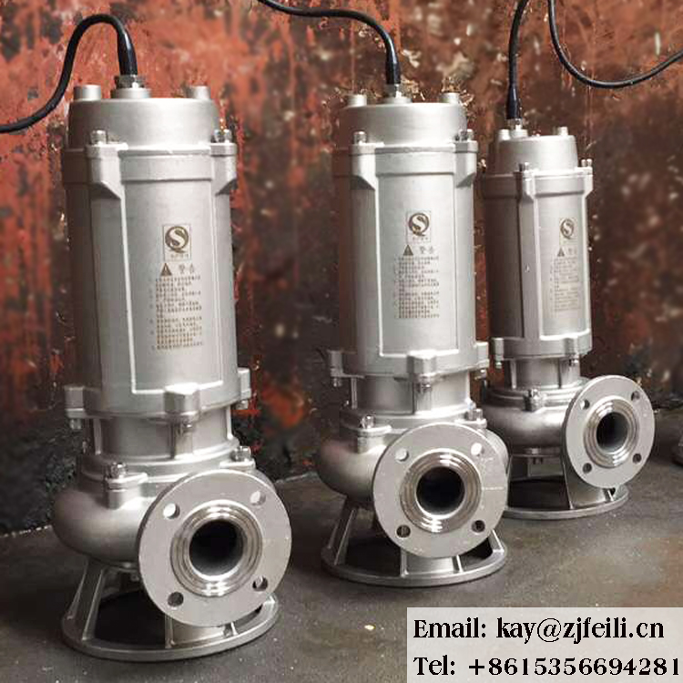 non-clog raw sewage submersible pump centrifuge pump <strong>1</strong> hp