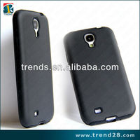 black dual protection pc+soft silicone combo case for samsung galaxy s4