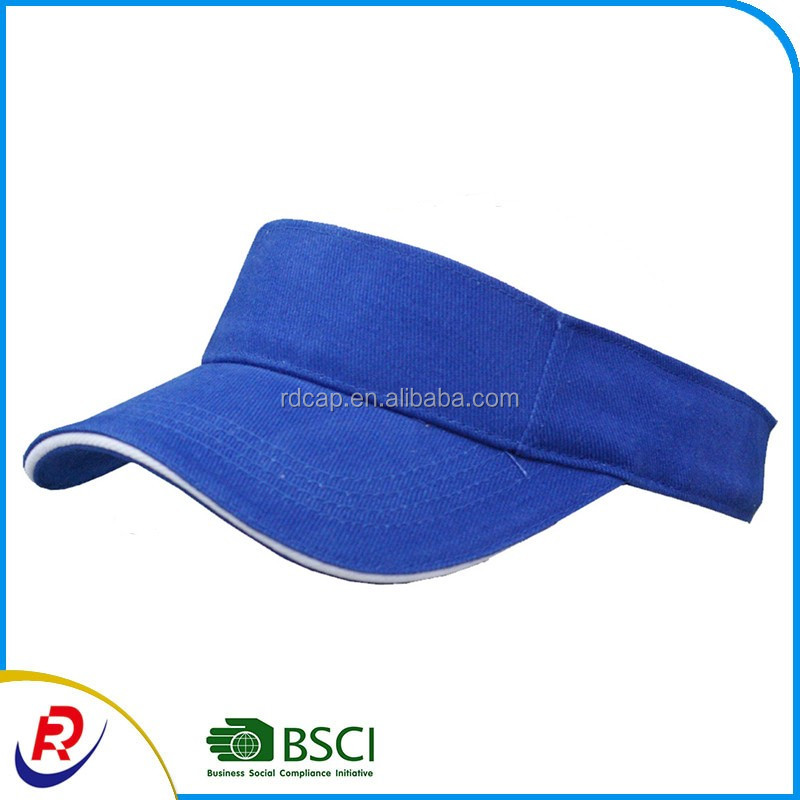 Promotion adjustable cotton tennis visor cap Plain Men Women Sport Sun Visor