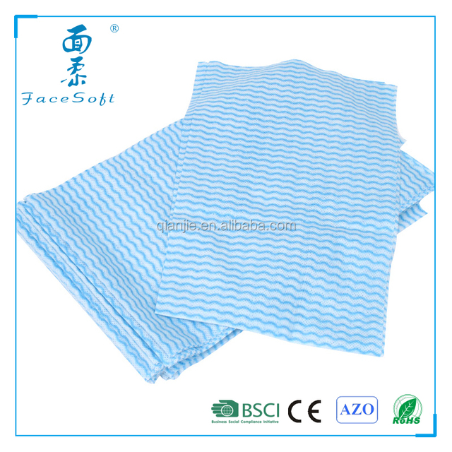 non woven cellulose wipes/100% rayon household cleaning wipes