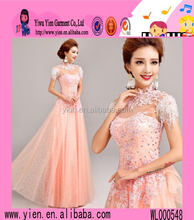 Latest Design Bead Embroidered Evening Dress High Quality Boutique Shop Sexy Thai Silk Evening Dress