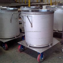 Professional Manufacture Stainless Steel Milk Tank With Wheels